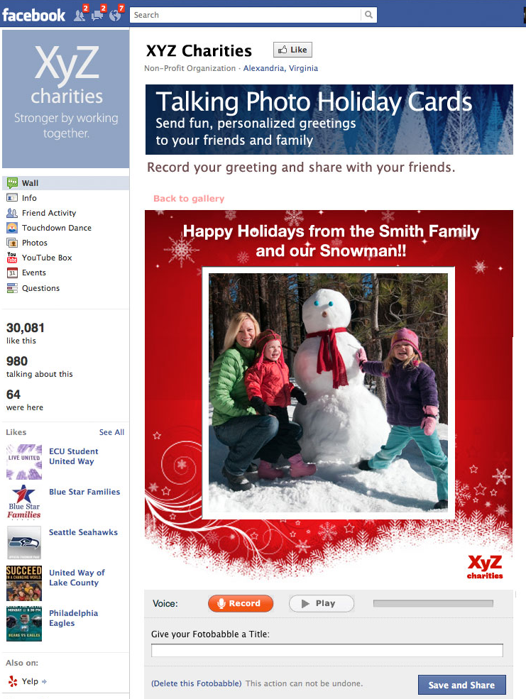 holiday greeting cards for your fans share the gift of voice, Greeting card